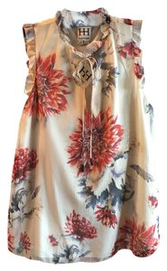 Haute Hippie Top white/red
