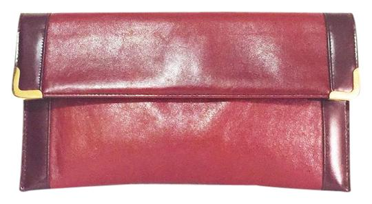 Preload https://img-static.tradesy.com/item/21167448/koret-vintage-deep-wine-genuine-gold-accent-envelope-by-red-leather-clutch-0-1-540-540.jpg
