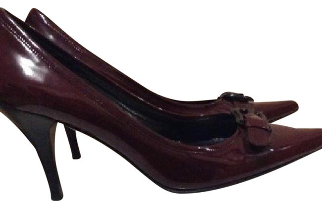 Item - Red Burgundy B Buckle Pumps Size US 7