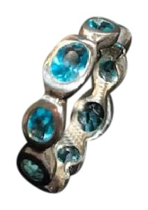 Silpada Silpada Northern Lights Ring - Size 7 Blue Topaz