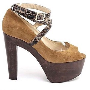 Jimmy Choo Brown Whisky Platforms