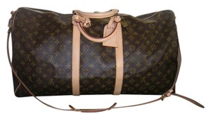 Louis Vuitton Travel Weekend Keepall Bandouliere Monogram Travel Bag