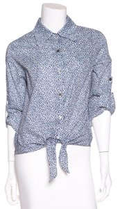 Daniela Corte Button Down Shirt Blue