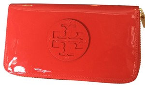 Tory Burch stacked patent zip continentals