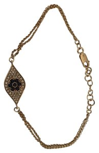 Fine Jewelry Vault Evil Eye Bracelet in Paive Diamonds and Blue Saphires- 14k Gold