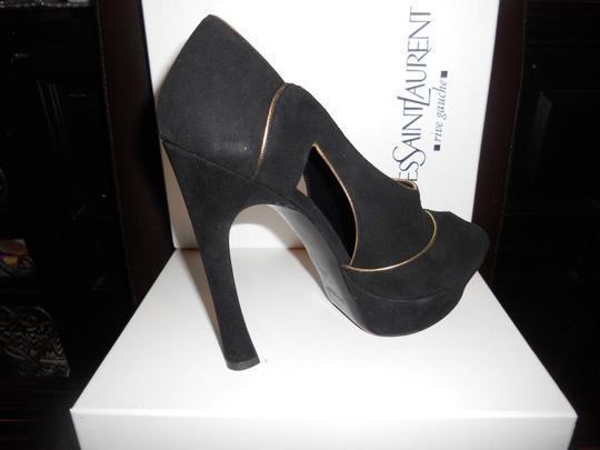 Saint Laurent Ysl Heels Essentiel Cutout Black Platforms