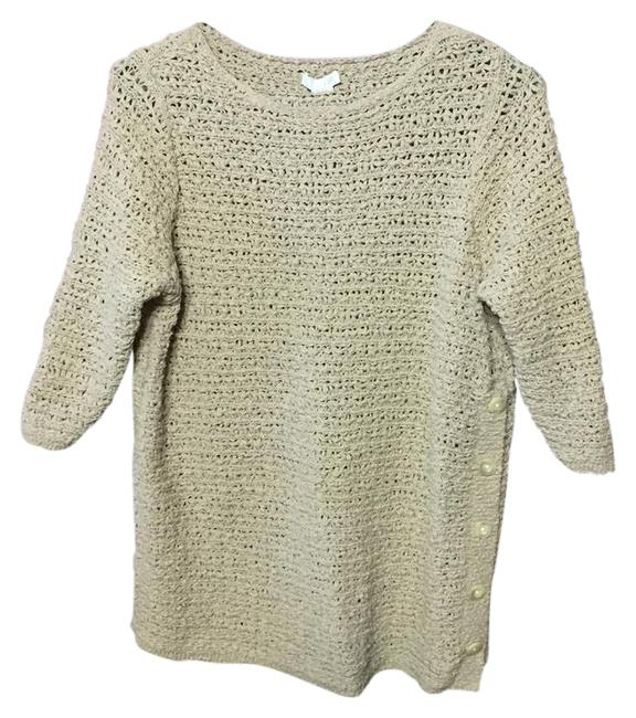 Preload https://img-static.tradesy.com/item/21167805/j-jill-cream-sweaterpullover-size-8-m-0-1-650-650.jpg