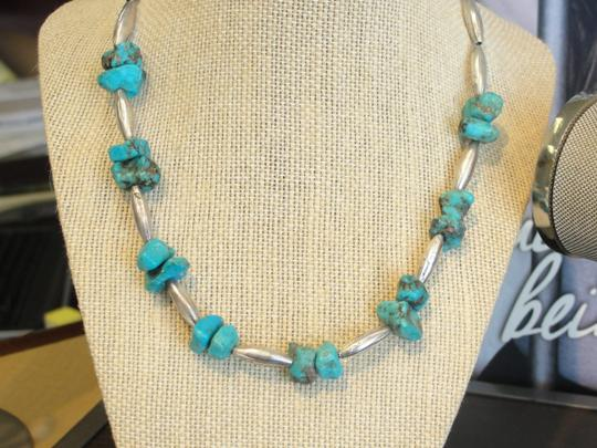 Other Turquoise Sterling Silver Necklace - Antique Necklace