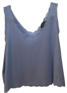 Topshop Scallop Periwinkle Top