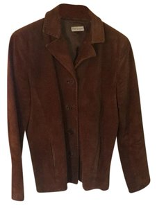 Ann Taylor Rust Brown Leather Jacket