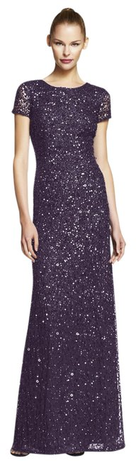 Preload https://img-static.tradesy.com/item/21168055/adrianna-papell-amethyst-short-sleeve-scoop-back-embellished-sequin-gown-long-formal-dress-size-6-s-0-1-650-650.jpg