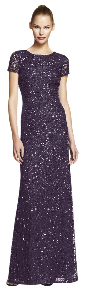 ee07848dd63a Adrianna Papell Embellished Evening Scoop Back Sequin Gown Dress Image 0 ...