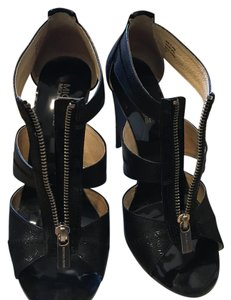 Michael Kors black patent Platforms