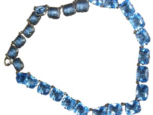 Other Faceted Crystal Blue Glass Necklace