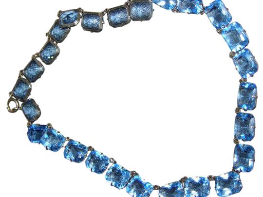 Preload https://img-static.tradesy.com/item/21168099/blue-faceted-crystal-glass-necklace-0-2-540-540.jpg