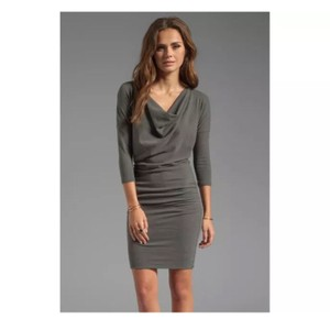 James Perse short dress green gray on Tradesy