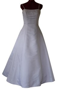 David's Bridal Wedding Taffeta Strapless Dress
