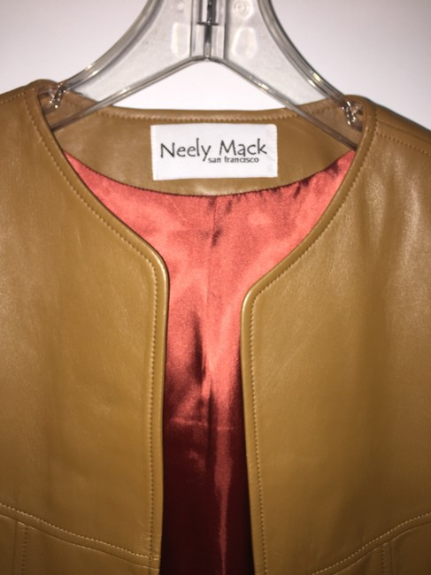neely mack brown Leather Jacket