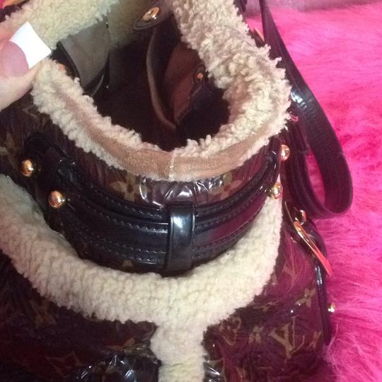 Louis Vuitton Shearling Neverfull Speedy Monogram Damier Tote in Brown