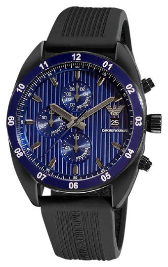 Preload https://img-static.tradesy.com/item/21168392/emporio-armani-black-and-blue-in-the-box-men-ar5930-watch-0-1-540-540.jpg