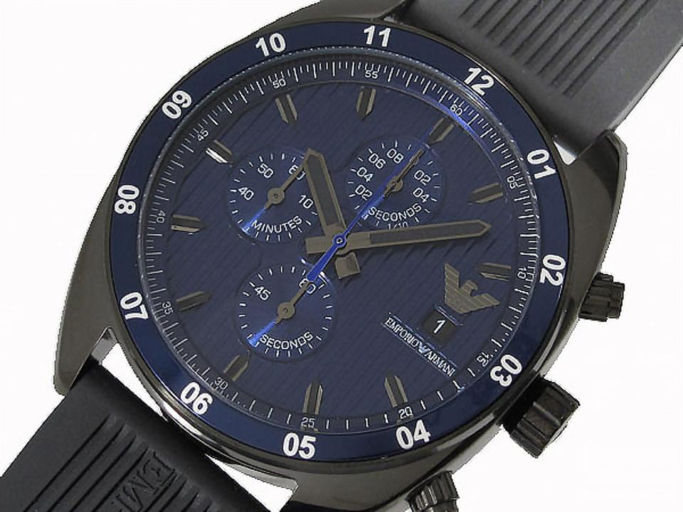 4aa6615ef2 Emporio Armani Black and Blue Box In The Men Ar5930 Watch 44% off retail
