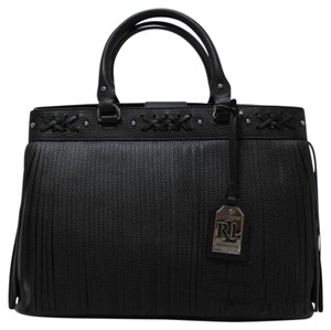 Ralph Lauren Leather Nwt 431617320001 Tote in Black