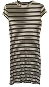 Monteau Los Angeles short dress Black and White striped on Tradesy