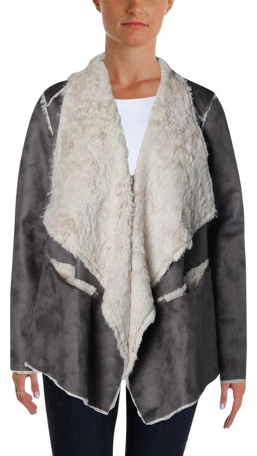 Preload https://img-static.tradesy.com/item/21168445/cullen-gray-faux-suede-asymmetrical-open-front-jacket-fur-coat-size-6-s-0-1-650-650.jpg