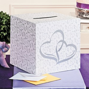 Romantic Two Hearts Wedding Card Box For Wedding Reception Or Ceremony