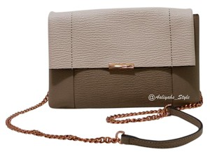Ted Baker Beige Leather 05054787149373 Nwt Clutch Cross Body Bag