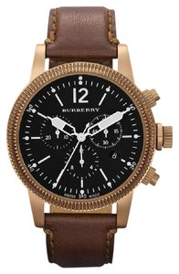 Burberry 100% NEW Burberry Watch BU7814 Swiss Chronograph Brown Leather Strap