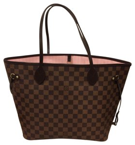 Louis Vuitton Damier Ballerine Neverfull Neverfull Mm Damier Neverfull Tote in Rose