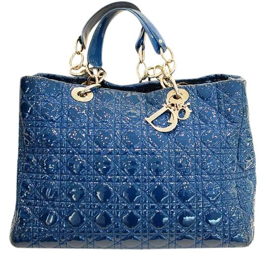 Preload https://img-static.tradesy.com/item/21168521/dior-patent-cannage-soft-shopping-blue-leather-tote-0-2-540-540.jpg