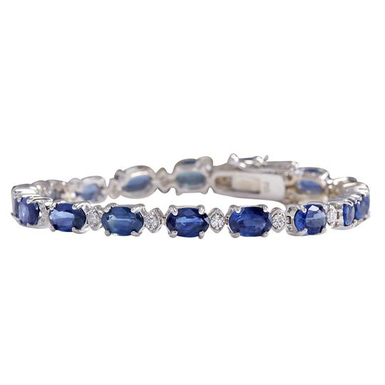 Preload https://img-static.tradesy.com/item/21168526/1115ctw-natural-sapphire-and-diamond-14k-solid-white-gold-bracelet-0-0-540-540.jpg