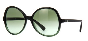 Chanel NEW Chanel 5351 1560/S3 Summer Oval Black Green Sunglasses