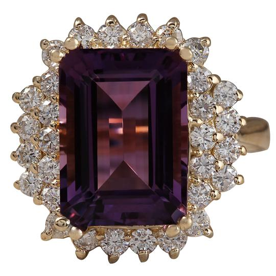 Preload https://img-static.tradesy.com/item/21168612/653ctw-natural-amethyst-and-diamond-in-14k-solid-yellow-gold-ring-0-0-540-540.jpg