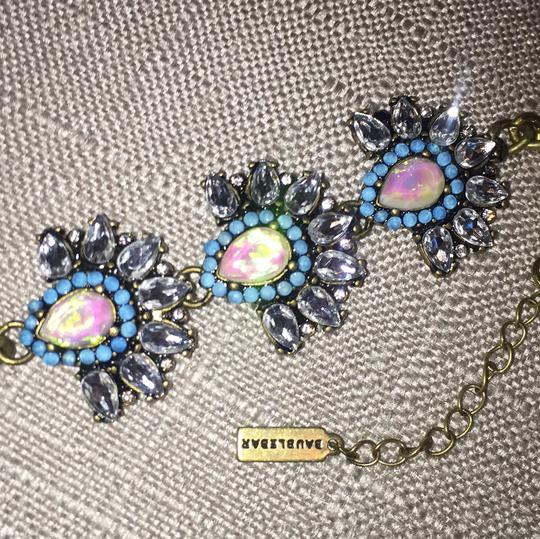 BaubleBar Stunning Opalescent Stones w/ Crystals & Blue Crystals