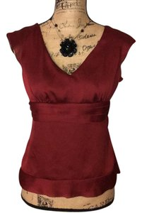 Ann Taylor LOFT Top wine red