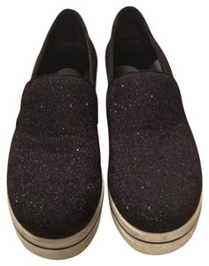 Stella McCartney black glitter Wedges