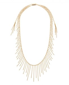 Michael Kors Michael Kors Modern Fringe Gold-Tone Adjustable Drape Necklace MKJ5793