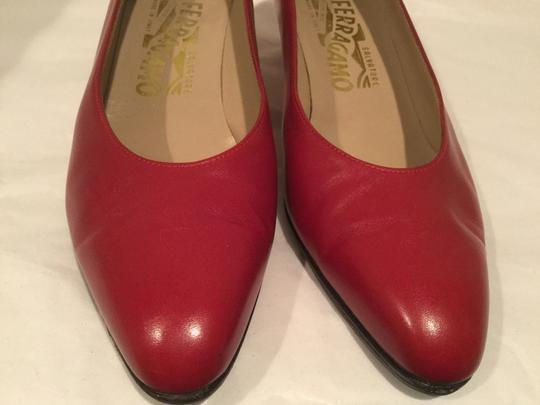 Salvatore Ferragamo Red Pumps
