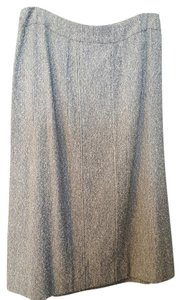 Chanel Vintage Vertical Seams Below Knee Maxi Skirt Blue Multi