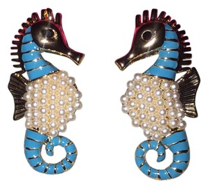 Betsey Johnson Darling Pearl Seahorse Earrings Similar to Lilly Pulitzer