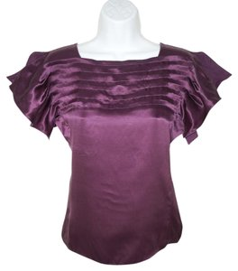 Max Studio Silk Satin Top