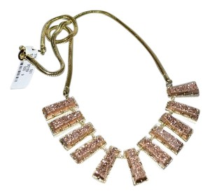 Kendra Scott KENDRA SCOTT New Angelina Rose Golden Druzy Bib Necklace