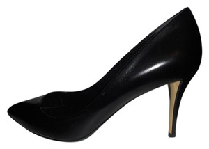 Saint Laurent Ysl Heels Tribute Paris Cap Toe Black Pumps