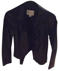 Reiss black with silver zippers Leather Jacket