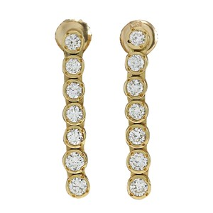 Fashion Strada 1.26CTW Natural Diamond Earrings 14K Solid Yellow Gold