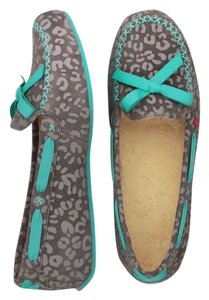 UGG Australia Uggs Lounge Comfortable Travel Grey and Blue Flats