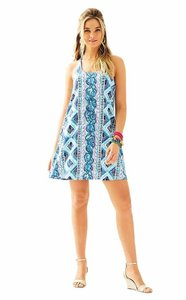 Lilly Pulitzer short dress Bay Blue Fine Line Engineered Lydia on Tradesy